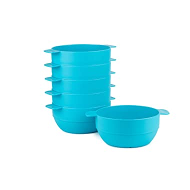 Amuse- Unbreakable & Stackable Bowls < Dessert, Cereal or Ice Cream > - 6 pcs- 16.9 oz (Turquoise)