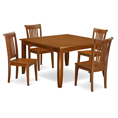 PFPO5-SBR-W 5 Pc Dining room'set-Square gathering Table
