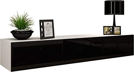 Concept Muebles Seattle - Soporte para televisor (65 Pulgadas), diseño Europeo de Alto Brillo, para Colgar Muebles/Soporte de TV/Unidad de televisión Central: Amazon.es: Hogar