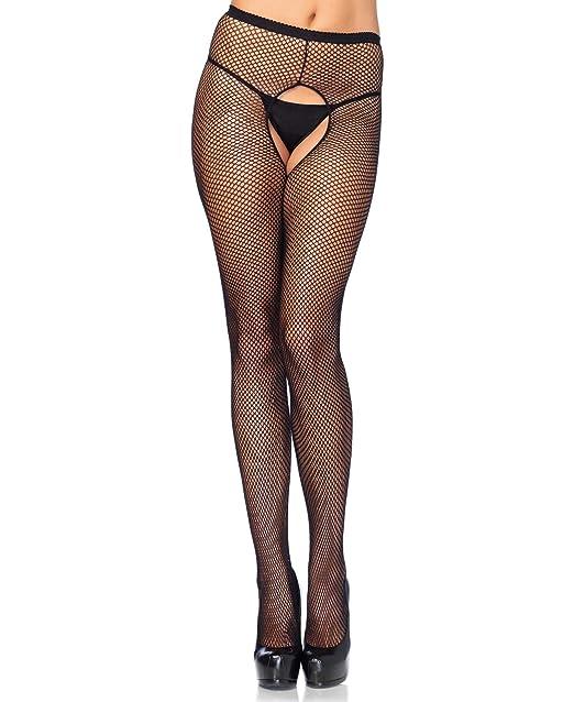 03fa5354f91 Leg Avenue 1404Q Women s Crotchless Fishnet Tights Pantyhose - Plus Size -  Black