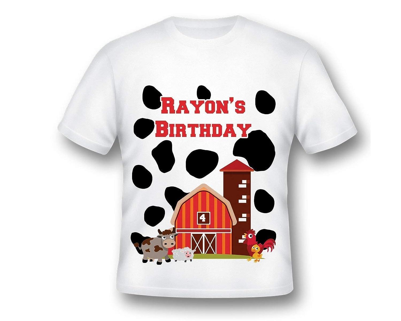 Amazon Custom Farm Birthday Tee Shirt Printed Barnyard
