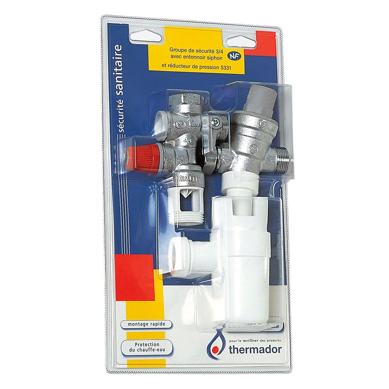 Thermador - Groupe de sécurité - Groupe de sécurité droit 3/4' (20/27) avec siphon et réducteur de pression