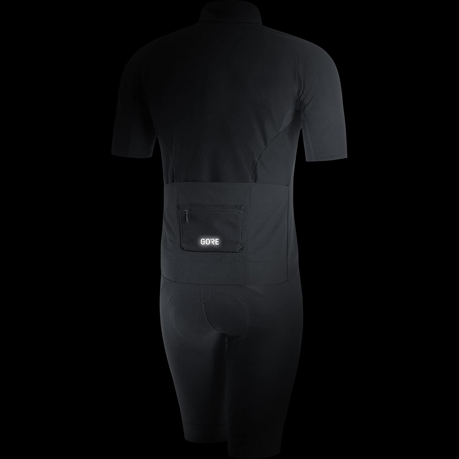 GORE Wear Mens Windproof Road Cycling Short Sleeve Jersey Color: Black 100186 Size: L GORE Wear C7 GORE Wear WINDSTOPPER Jersey