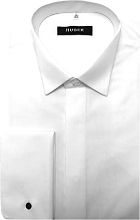 Huber Smoking Camisa Blanco 0021 Ajuste Cómodo S hasta 6 xl
