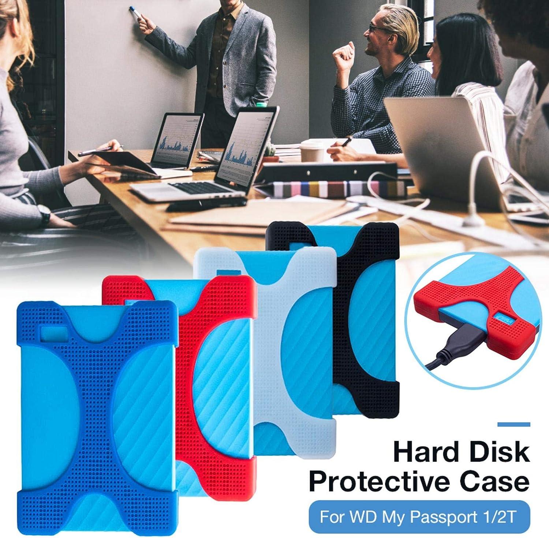 Yunt-11 2 Pack Disque Dur Housse de Protection en Silicone pour WD My Passport 1 2T 2T,Type X Accessoires /électroniques universels pour WD My Passport 1