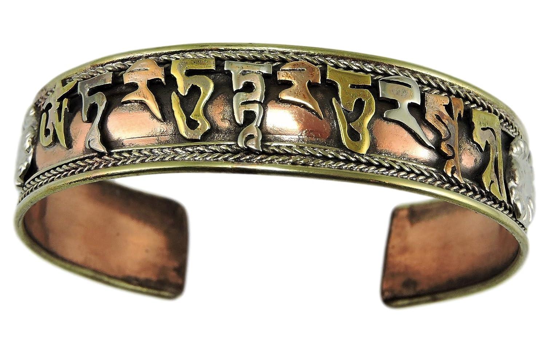 Handmade Tibetan Three Metal Healing Mantra Yoga Bracelet B07CZT1GW7_US