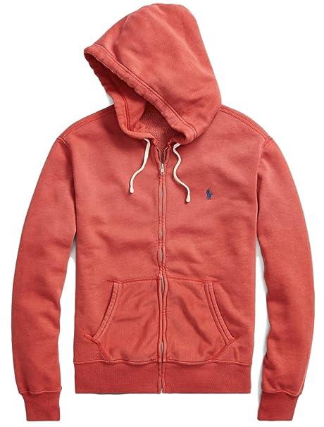 separation shoes 9f262 3d7e3 Ralph Lauren Felpa Zip Polo Rossa: Amazon.it: Abbigliamento