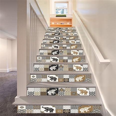 BKPH Vintage marroquí Estilo escaleras Pegatina Oficina en casa escaleras personales Pegatinas Decorativas: Amazon.es: Deportes y aire libre