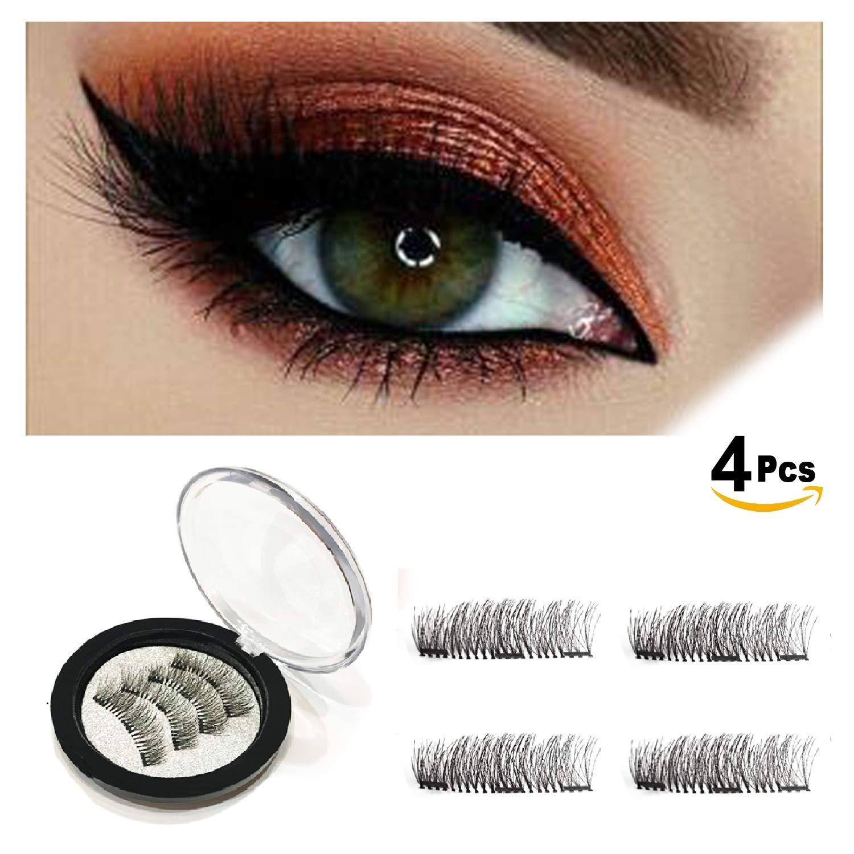 ec94d6b6cb1 Magnetic Eyelashes Glue Free 3 Magnets,Best 3D Full Eye False Lashes  Extension For Natural