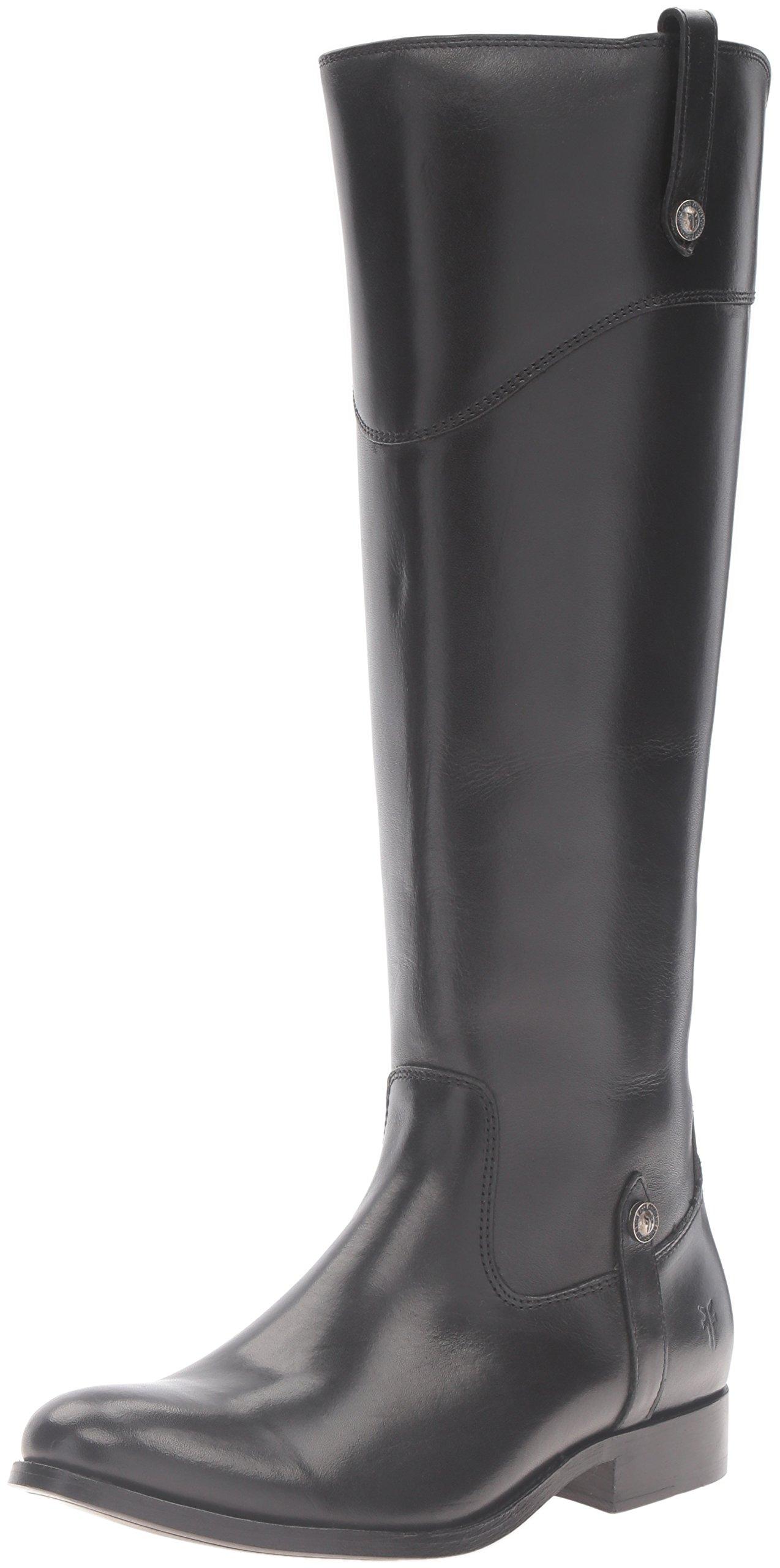 FRYE Women's Melissa Tab Tall Riding Boot, Black, 9 M US