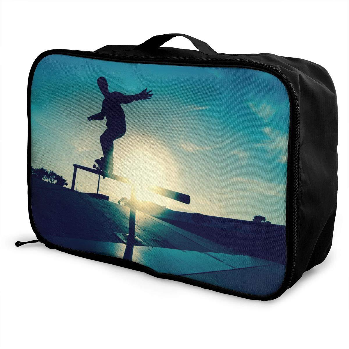 Travel Luggage Duffle Bag Lightweight Portable Handbag Skate Board Large Capacity Waterproof Foldable Storage Tote