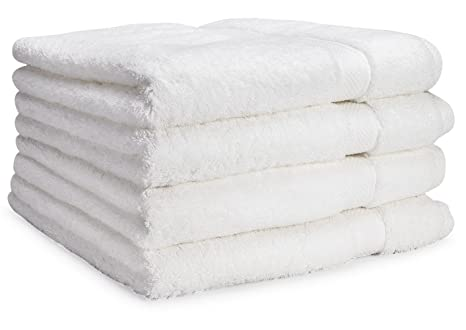 Toallas de baño de lujo de Cosy Homery - Juego de toallas 4 piezas blanco -