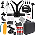 Gurmoir Camera Accessories Kit Sports Action Camera Accessories Kit for GoPro Hero 7 Black/6/5/4Session5/4/SJ4000/SJ5000/SJ5000X/SJ6/SJCAM M20/AKASO/APEMAN and More Action Cameras(GT08)
