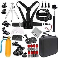 Gurmoir Camera Accessories Kit Sports Action Camera Accessories Kit for GoPro Hero 7 Black/6/5/4Session5/4/SJ4000/SJ5000/SJ5000X/SJ6/SJCAM M20/AKASO/APEMAN and More Action Cameras(GT08)