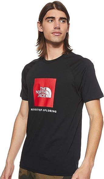 The North Face de los Hombres Camiseta Rag Red Box, Negro