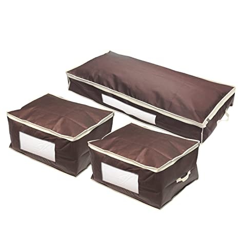 Amazon.com: Juvale Set of 3 Closet Organizer Bags - Blanket Storage, Clothing Organizers for Bedroom Organizing, Vacation Packing, Household Storage, ...