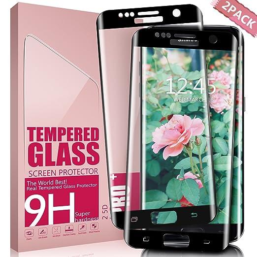 55 opinioni per Vetro Temperato Galaxy S7 Edge, Aonsen [2 pack] 3D Copertura Completa Pellicola