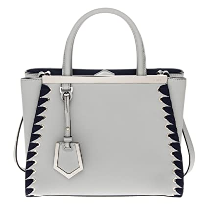 212bfdc3e8fe Amazon.com  Fendi Women s Petite 2Jours Leather Tote Blue  TheLuxuryClub