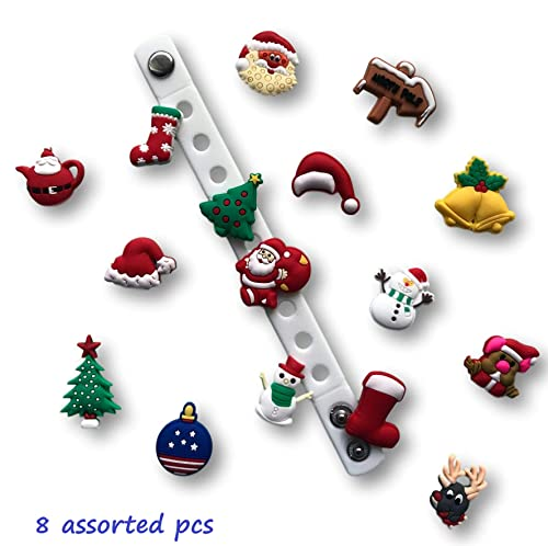 4ed599cb1a Amazon.com: Jibbitz for Crocs Shoes by Nenistore| Cute Shoe Charms Plug  Accessories for Crocs & Bracelet Wristband Party Gifts| Christmas (Set of 8  assorted ...