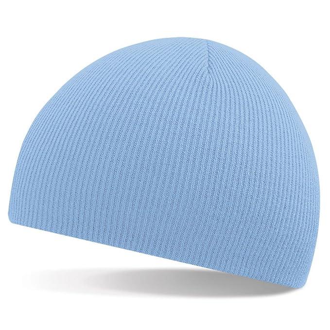 Beechfield - Gorro de punto - para hombre azul azul celeste Talla única   Amazon.es  Ropa y accesorios 31de008468a
