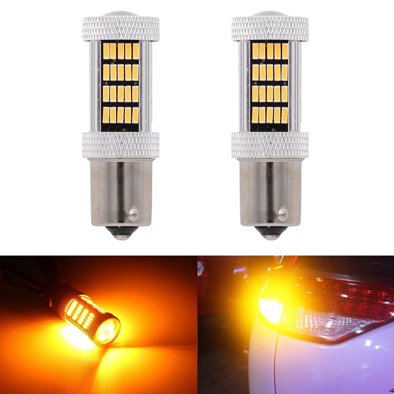 KaTur 1157 BAY15D LED-Birne fü r KFZ, 4014 SMD, 900 Lumen, 12 V, Ersatz-Birne fü r Bremslichter / Rü cklichter von Autos, Wohnmobilen, SUVs, Weiß , 2er-Pack