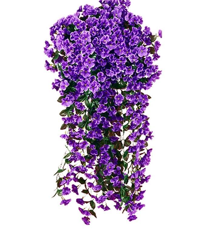 Flores artificiales Glicina para colgar en cesta, diseño de ...