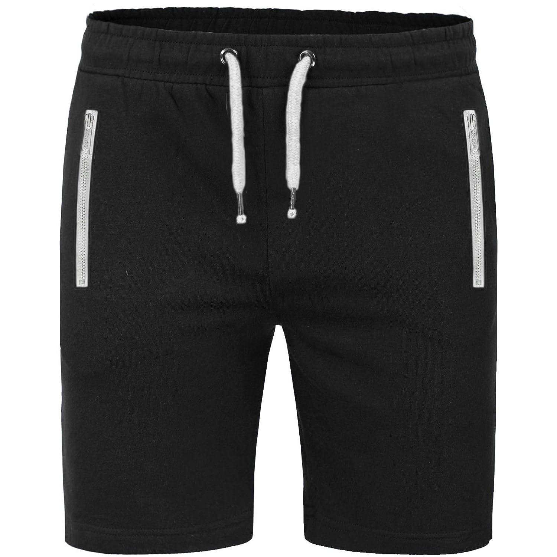 Mens Summer Plain Fleece Jersey Jogging Shorts Sports Sweat Jogger Running Gym