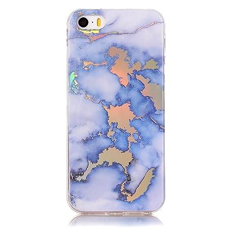 Lomogo Funda iPhone 5S / 5 / SE Marmol, Carcasa Silicona ...