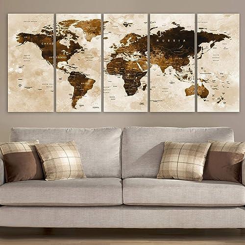 Wall Art World Map Amazon.com: Original by BoxColors Xlarge 30