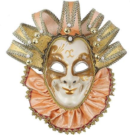 FABULUOS Venetian Jester Full Costume Mask Mardi Gras Masquerade Halloween
