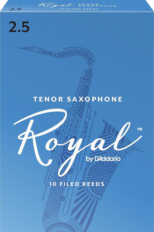 CAÑAS SAXOFON TENOR - D´Addario Rico Royal (Caja Azul) (Dureza 2 ½) (Caja de 10 Unidades)