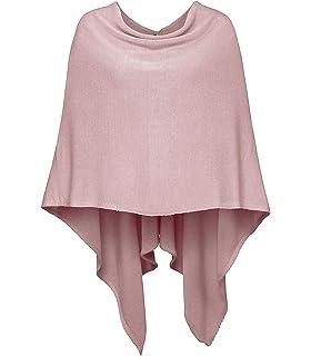 ac4dfd9a2a4701 Cashmere Dreams Poncho-Schal aus Baumwolle - Hochwertiges Cape für Damen -  XXL Umhängetuch und