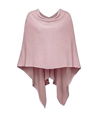 8ac132ce10cd43 Cashmere Dreams Poncho-Schal aus Baumwolle - Hochwertiges Cape für Damen -  XXL Umhängetuch und