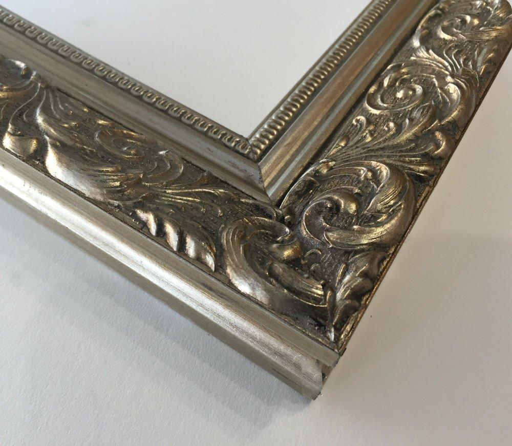 West Frames Bella Ornate Embossed Wood Picture Frame (20'' x 30'', Antique Silver) by West Frames (Image #2)