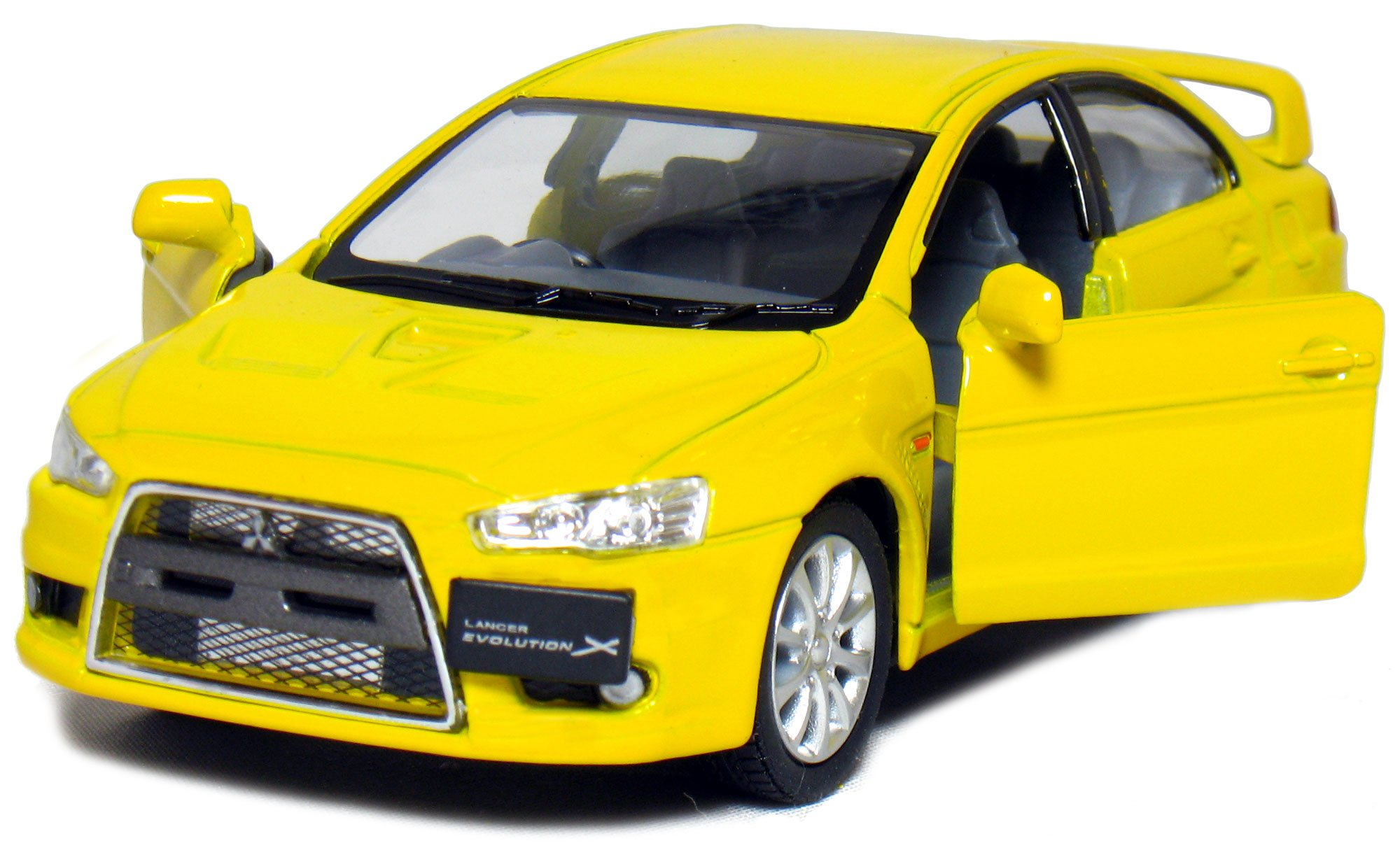 5 2008 Mitsubishi Lancer Evolution X 1:36 Scale (Yellow) by Kinsmart