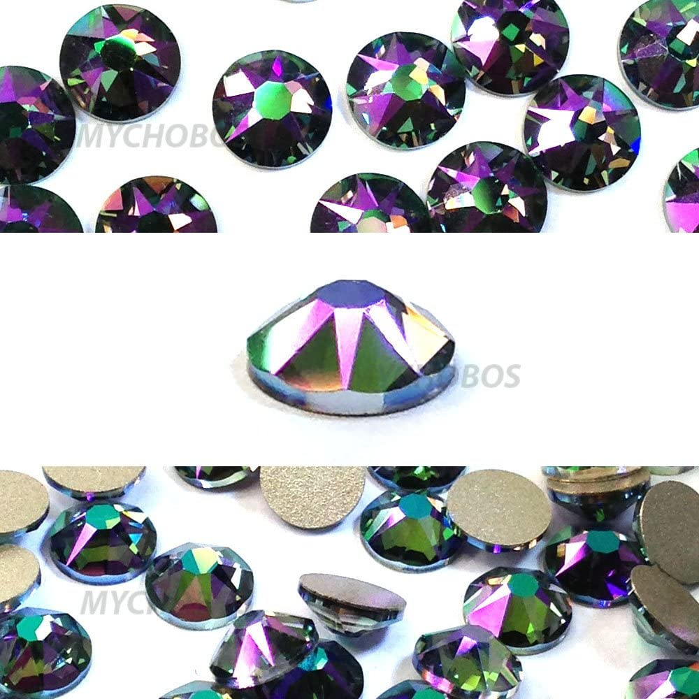 CRYSTAL PARADISE SHINE (001 PARSH) Swarovski NEW 2088 XIRIUS Rose 20ss 5mm flatback No-Hotfix rhinestones ss20 144 pcs (1 gross) from Mychobos (Crystal-Wholesale)
