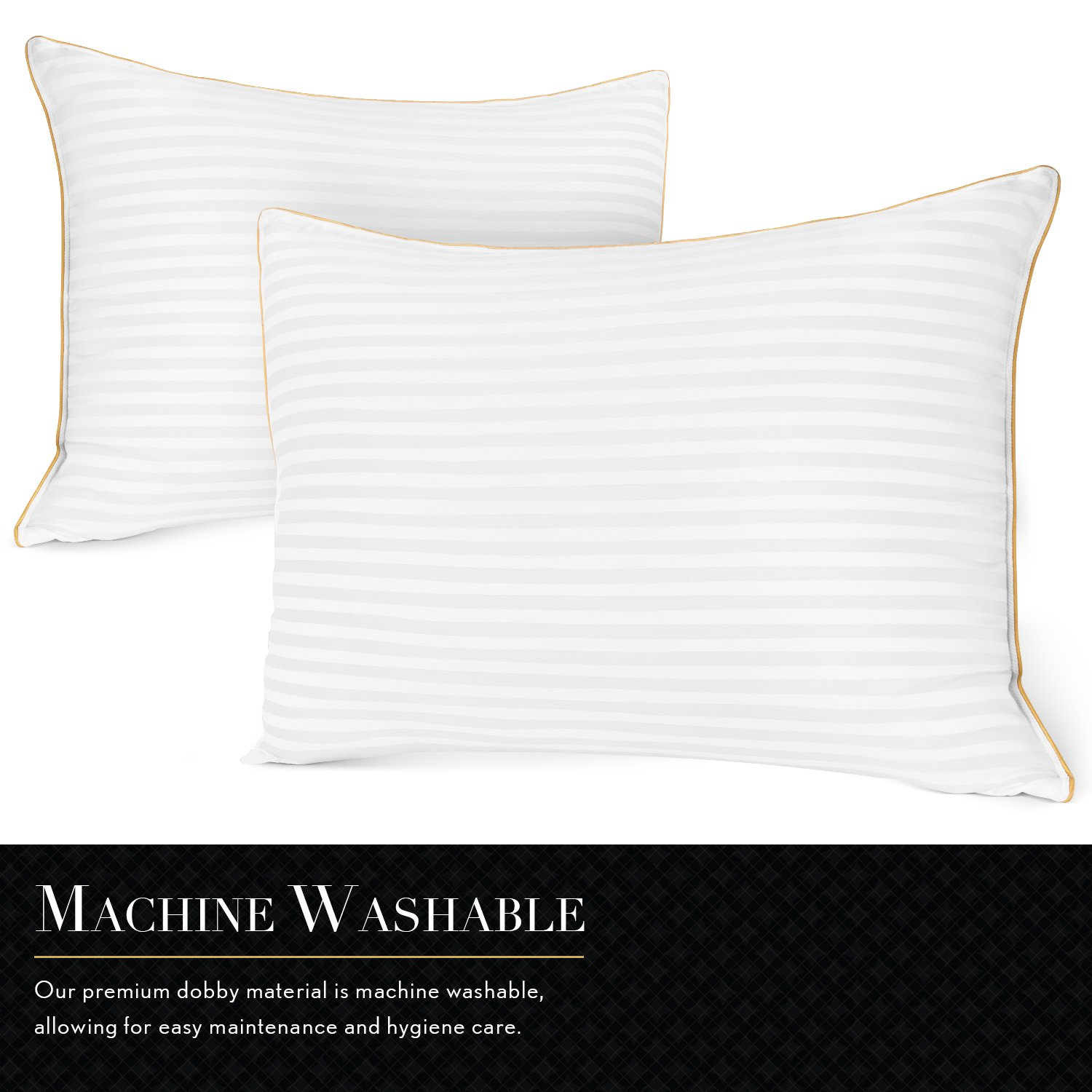 Italian Luxury Plush Gel Pillows (2-Pack) - Premium Quality Luxury Hotel Collection