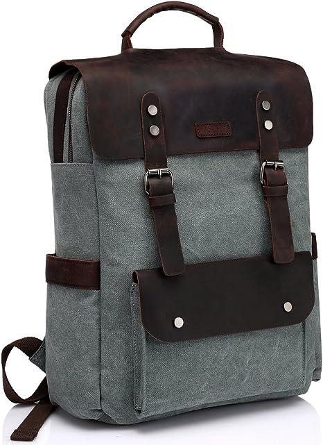 Hommes cuir véritable sac à dos Sac à Dos Sac D/'ordinateur Portable Randonnée Voyage Camping Carry on