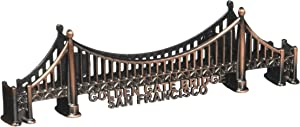 (35 4/4) San Francisco Bronze Golden Gate Bridge Magnet 3.5 Inches Long With Exclusive CA BEAR MAGNET
