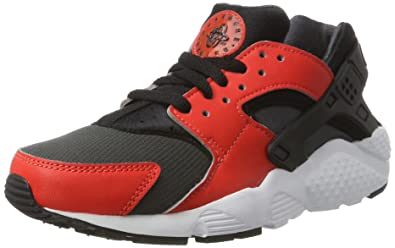 separation shoes 2911d 621bd Nike Kinder und Jugendliche Huarache Run Gs Sneakers, Mehrfarbig (Max  Orange Black-