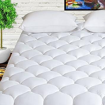 pillow top mattress pad full size Amazon.com: HARNY Mattress Pad Cover Full Size 400TC Cotton Pillow  pillow top mattress pad full size