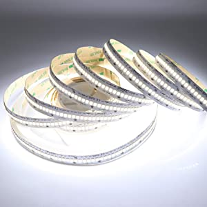 LEDENET 16.4FT Dimmable Cold White LED Strip Lighting 24V 1200LEDs Flexible Ribbon Tape Lamp High Density Linear Light UL Listed(Cold White)