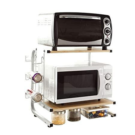 SoBuy®FRG092-N,Soporte para microondas, estante, estantería de cocina, miniestante,ES
