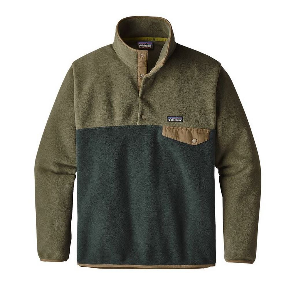Patagonia Mens LW Synch Snap-T P/O, Industrial Green, XXL