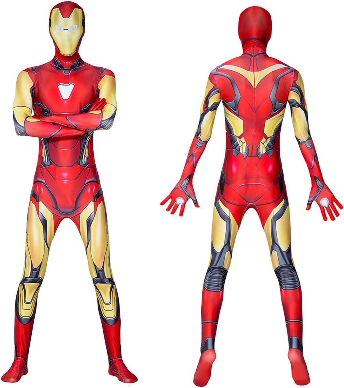 Gerzely Adultos Traje De Iron Man Superhéroe, Halloween Cosplay ...