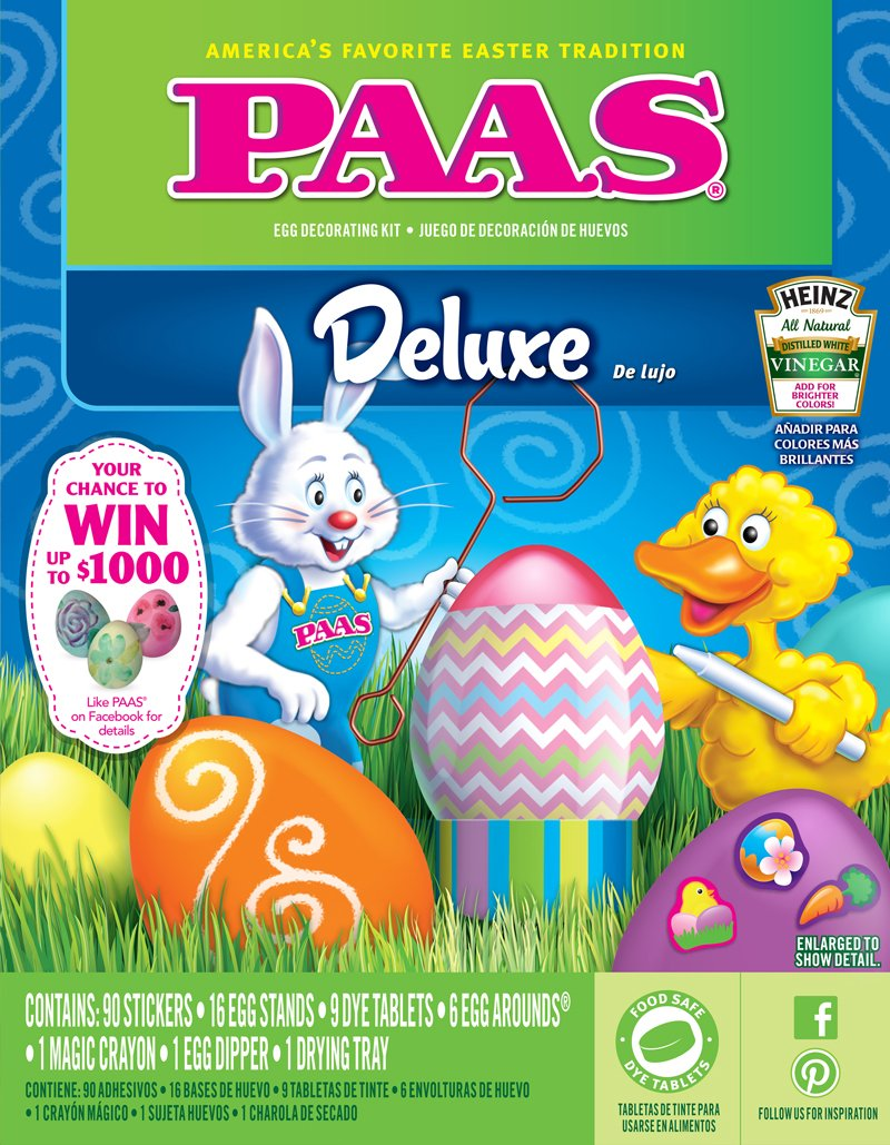 Amazon.com: PAAS Easter Egg Coloring Kit Variety - Includes Clasic, Deluxe, Color Whip and Color Cups: Toys & Games