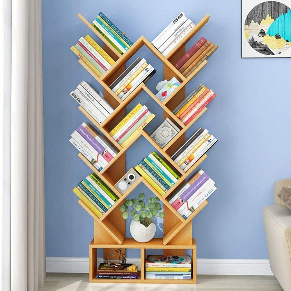 本棚 リビングルームホームオフィスシンプルでモダンなツリー形の本棚書棚収納棚ブックストレージオーガナイザー、本/CDの/アルバム/ファイルホルダー 収納 (Color : White, Size : 146x60x20cm)