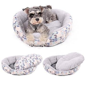 Pawz Road Cama de lujo para perro, suave y cómodo con cojín reversible de doble