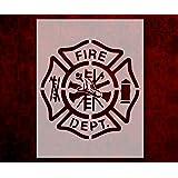 amazon com fire department stencils mylar 2 pieces of 14 mil 8 x