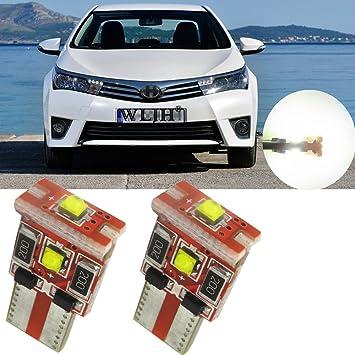 WLJH 2 unidades T10 194 extremadamente 3-cree-xb-d Canbus Error libre LED Bombillas W5 W 168 luz de estacionamiento: Amazon.es: Coche y moto